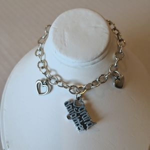 James Avery bracelet with 3 charms